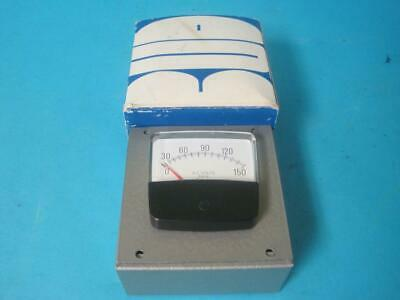 New Simpson A.c Volts Rms 0-150 Vac Panel Meter With Bud Radio Enclosure Au-1083