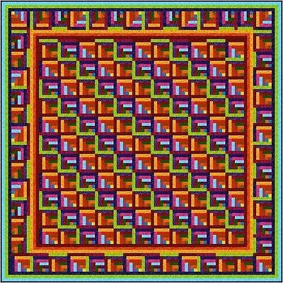 """ZAPPA - 91"""" - Quilt-Addicts Precut Patchwork Quilt Kit King Size"""