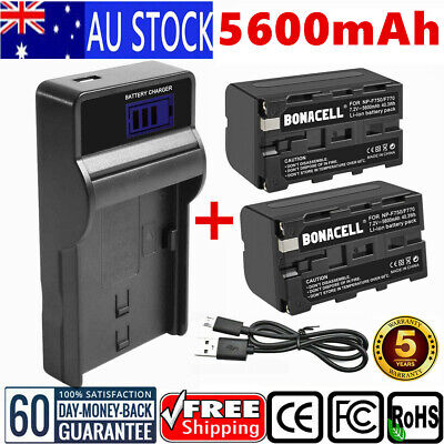 5600mAh NP-F750 Battery/LCD Charger For SONY NPF970 NP-F500 NP-F770 CCD-SC Serie