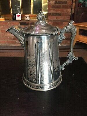 Antique 1858 Meriden Britannia Victorian Silverplated Double Wall Pitcher
