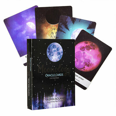 Moonology Oracle Cards: A 44-Card Deck and Guidebook by Yasmin Boland Magic US