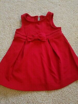 Old Navy Red Holiday Christmas Baby Girl Dress Size 12-18 Months