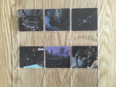 STAR WARS TRIOLOGY 3-D LENTICULAR CARDS COMPLETE SET Of 6 Issued YEAR 1997