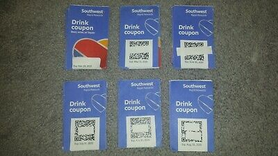6 Southwest Airlines Drink Coupons - Expires 2/29/2020 and Beyond