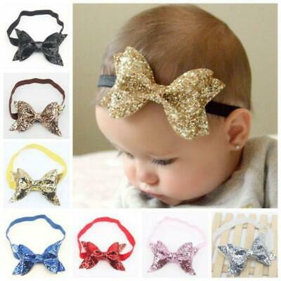 Sequin Sweety Baby Girls Big Bling Double Bow Headware Knot Hairband