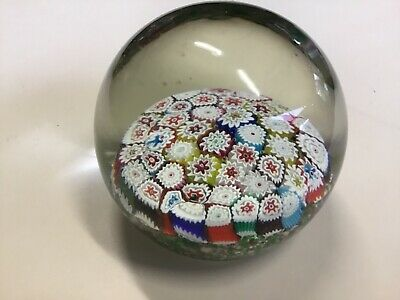 Murano glass paper weight Millefiori