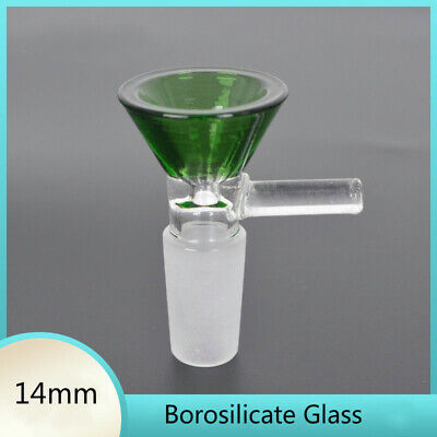 Colorful 14mm Borosilicate Glass Joint Male Glass Bowl for smoking glass bong