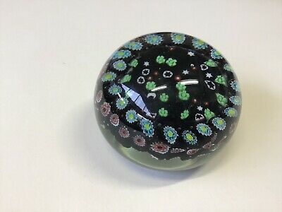 glass paper weight Millefiori  dark