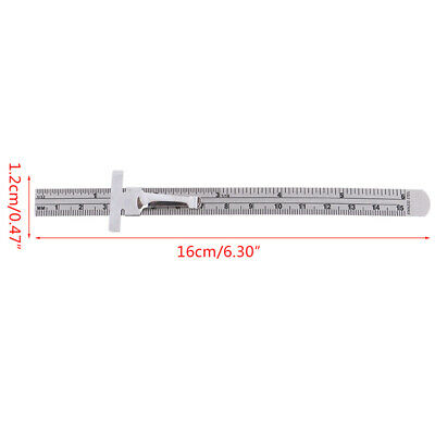 """6"""" Stainless Steel Pocket Rule Handy Ruler with inch 1/32"""" mm/metric ZB"""
