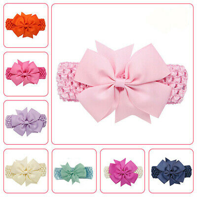 Baby Girls Wave Headbands Bowknot Hair Accessories Infant Adjustable Hair Band