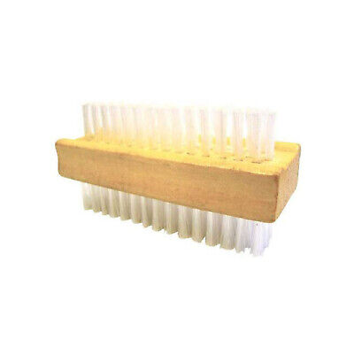 Double Sided Wooden Nail Scrubbing Brush Retro Manicure Quality Accessory
