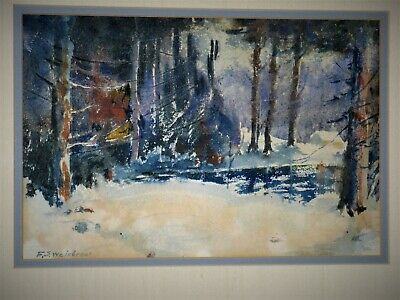 Antique F.s. Weisbrook Watercolor On Paper Framed Signed Early 20Th Century