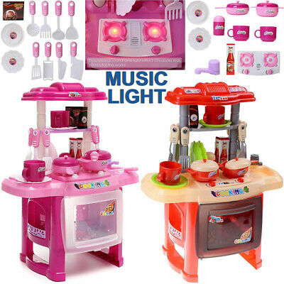 Kids Childrens Kitchen Play Set Food Cooker Pans Role Pretend Game Toy Gifts An