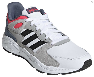 New adidas Mens CrazyChaos Athletic Shoes White Black Red