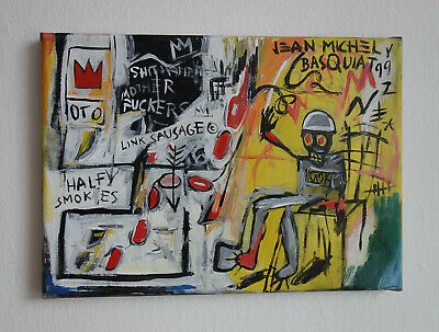 Rare original oil, on canvas painting, signed Jean Michel Basquiat w COA & DOCS.