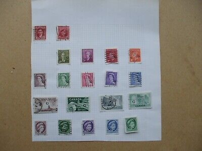 An Interesting Album Page Canada 18 Overprinted Stamps