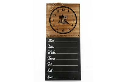 Wall clock chalkboard planner 7 day Wooden time flies but memories last forever