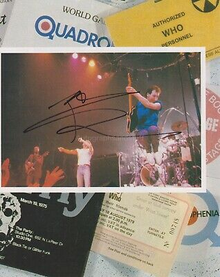 Pete Townsend HAND SIGNED 8x10 Programme Page, Autograph, The Who, Quadrophenia