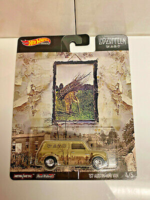 2019 Hot Wheels Premium Pop Culture Led Zeppelin 4/5 '67 Austin Mini Van NIP