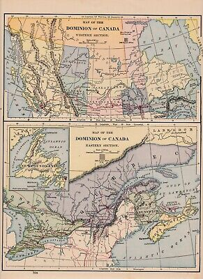 ca 1880 Canada map very good condition