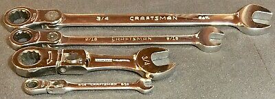Mixed Lot Of 4 Craftsman Locking Sae Flex Wrenches High Polish