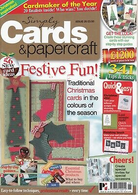 Simply Cards & Papercraft Magazine #26~Easy To Follow Techniques~Festive Fun