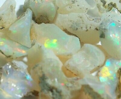 45ct Parcel Welo Opal rough. Premium AAA grade. Small pieces. UK