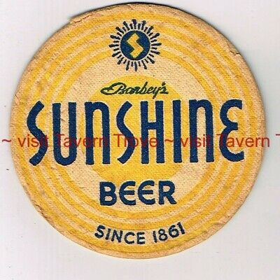 "1930s PENNSYLVANIA Reading Barbey SUNSHINE BEER 4"" Tavern Trove"