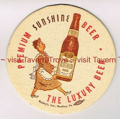 "1940s PENNSYLVANIA Reading SUNSHINE LUXURY BEER 4"" Tavern Trove"