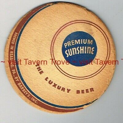 "1940s PENNSYLVANIA Reading SUNSHINE PREMIUM BEER 4"" Tavern Trove"