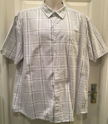 Men's Authentic Quality XXL cotton checked short sleeved shirt by TU