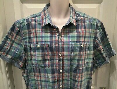 Men's 100% cotton XXL casual checked short sleeved shirt by F&F