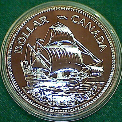1979 CANADA $1 Griffon - First commercial Great Lakes ship -  silver dollar
