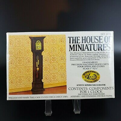 X-Acto House of Miniatures William & Mary Tall Case Clock / Circa Early 1700's