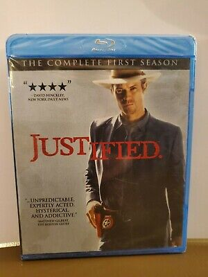 JUSTIFIED - Season 1 - Blu-Ray (Bluray) - Timothy Olyphant - Sealed/New