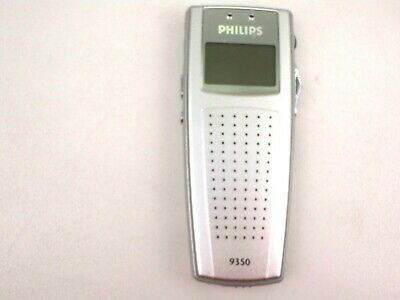 Philips 9350 Digital Voice Recorder Dictaphone Machine Silver Handheld Portable