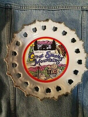 Great Smoky Mountains Collector Plate /Tennessee National Park Souvenir Vintage