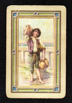 Vintage Swap/Playing Card - Titled - Antonio (LINEN)
