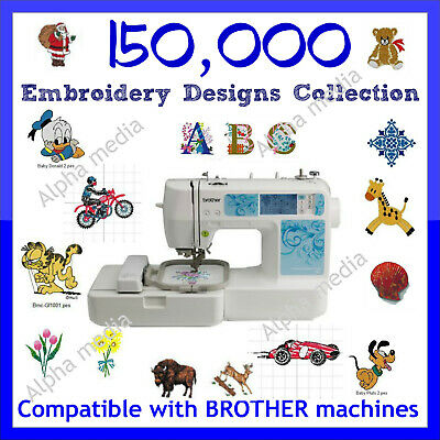 150,000 Embroidery designs collection PES format on USB FLASH DRIVE