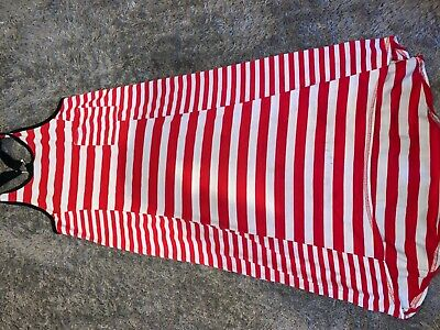 Girls Clothes River island red/white stripy dress age 9-10 years