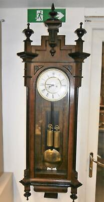 Centre Seconds Gothic Double Weight Vienna Wall Clock Working Order