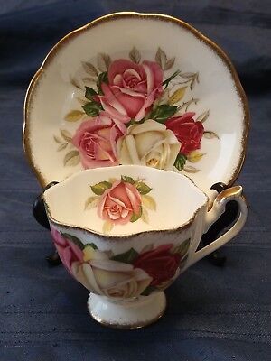 Queen Anne Teacup and Saucer - Lady Sylvia pattern-Aynsley,Paragon interest