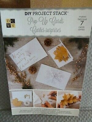 DCWV Pop-Up Cards x 7 Sentiments, Flowers & Snowflakes