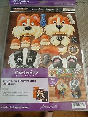 Hunkydory Adorable Scorable Freddie the Fox & Bailey the Badger Box-Pops