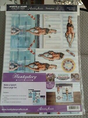 "Hunkydory ""Make A Splash"" Diving Deco-Large Set Card Kit GAME1904"