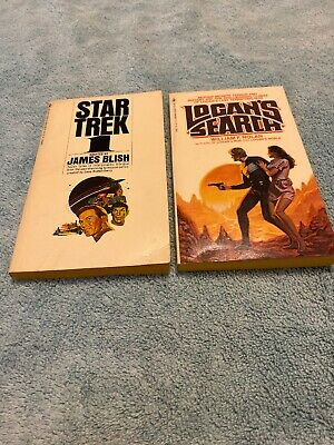 Star Trek 1 1967 25th Print 1977 & Logans Search 1980 1st Editon~Paperbacks