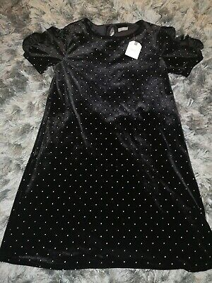 BNWT girls black sparkly next Xmas dress. Age 12 years