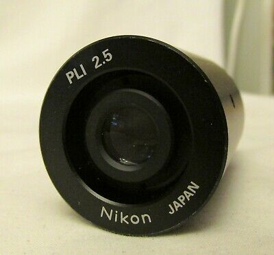 Nikon PLI 2.5 2.5X Microscope Photo Relay Eyepiece Lens