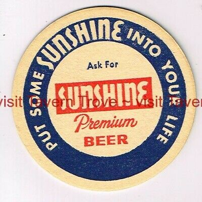 "V2 1961 PENNSYLVANIA Reading SUNSHINE PREMIUM BEER 3½"" Tavern Trove"
