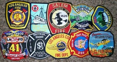 """*CLEARANCE*  Set # 2 - 10 Total Fire Patch Set  """"NO DUPLICATES IN SET"""""""